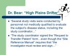 dr bear high plains drifter