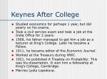 keynes after college