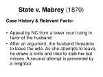 state v mabrey 1870
