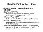 the aftermath of roe v wade37