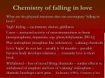chemistry of falling in love