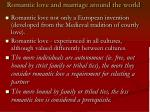 romantic love and marriage around the world