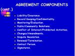 agreement components cont