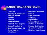 barriers sandtraps
