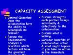 capacity assessment