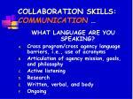 collaboration skills communication