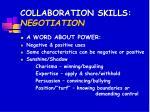 collaboration skills negotiation
