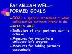 establish well formed goals