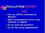 evaluating effort