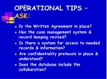 operational tips ask