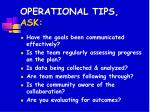 operational tips ask44