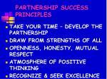 partnership success principles