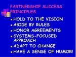partnership success principles50