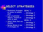 select strategies