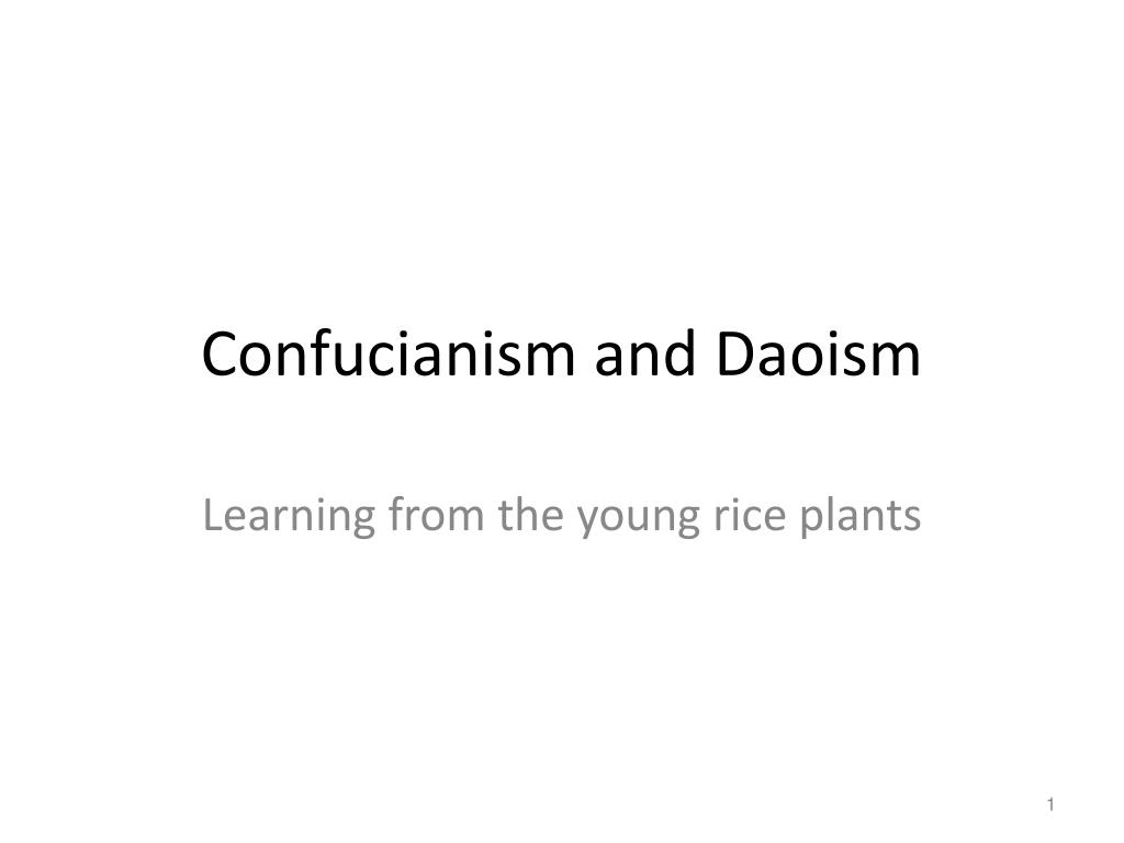 confucianism and daoism l.