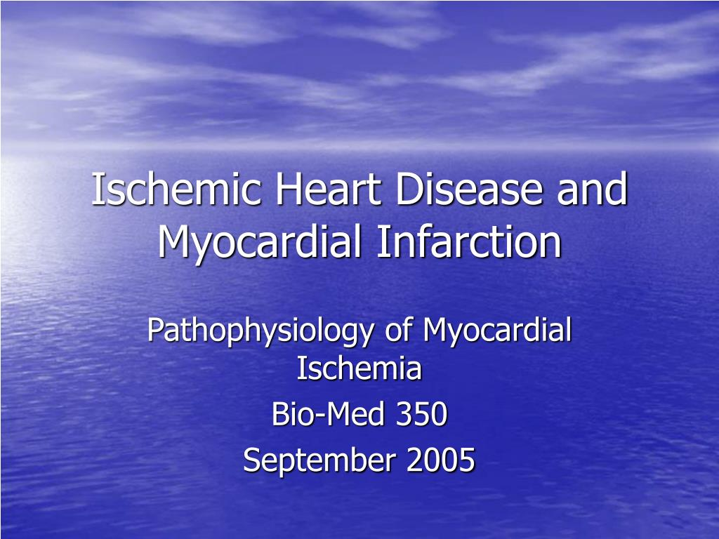 ischemic heart disease and myocardial infarction l.