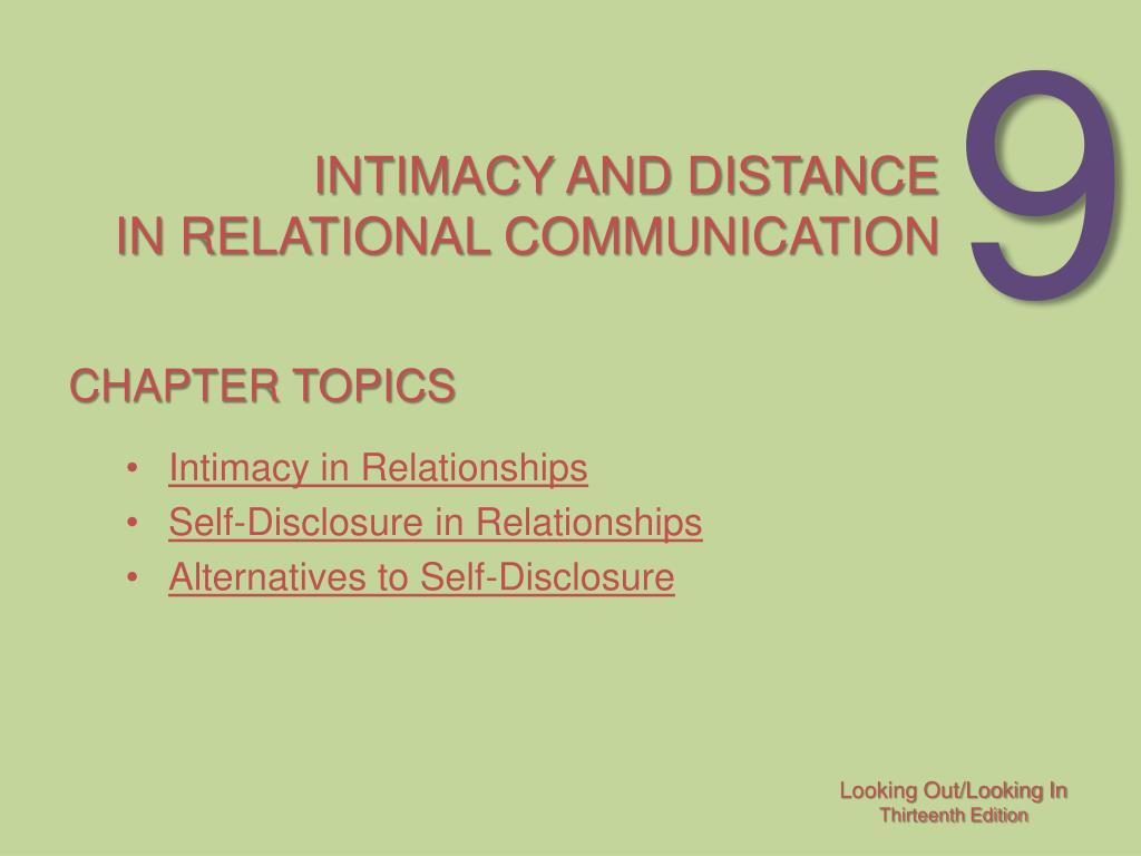 intimacy and distance in relational communication l.