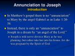 annunciation to joseph introduction