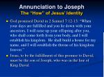 annunciation to joseph the how of jesus identity