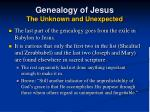 genealogy of jesus the unknown and unexpected