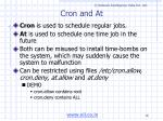 cron and at