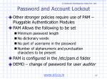 password and account lockout