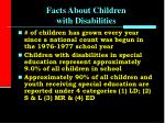 facts about children with disabilities