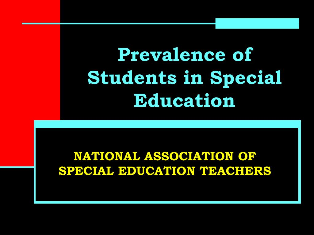 prevalence of students in special education l.