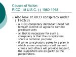causes of action rico 18 u s c 1960 196819