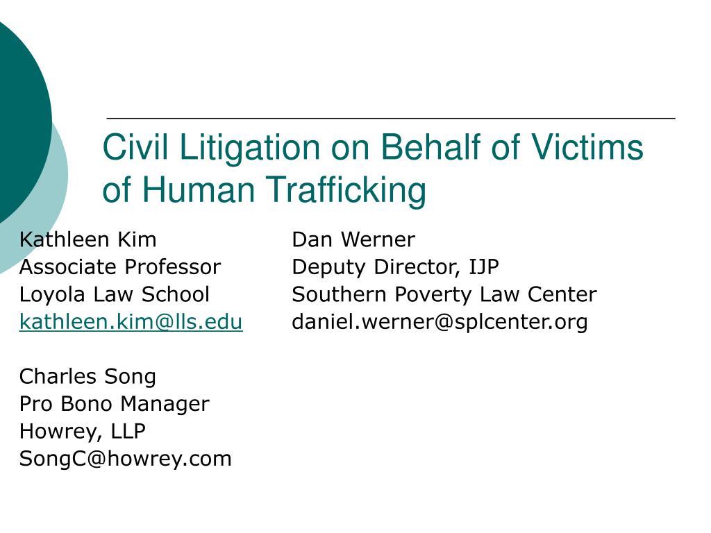 civil litigation on behalf of victims of human trafficking l.