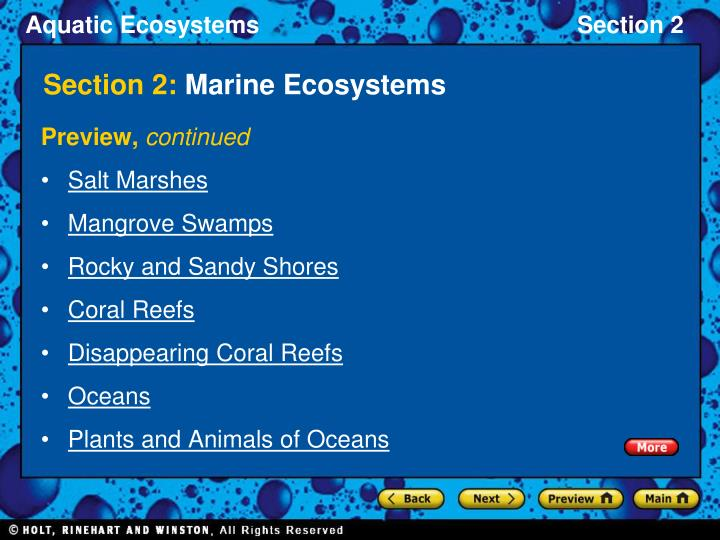 Section 2 marine ecosystems2