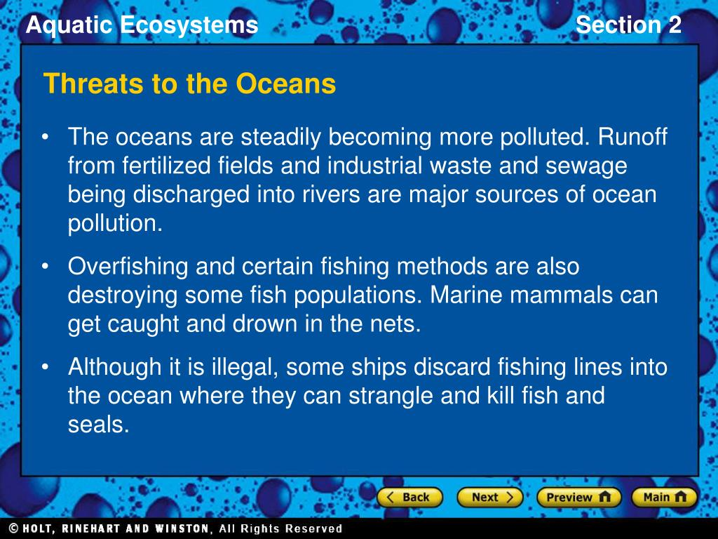 Threats to the Oceans