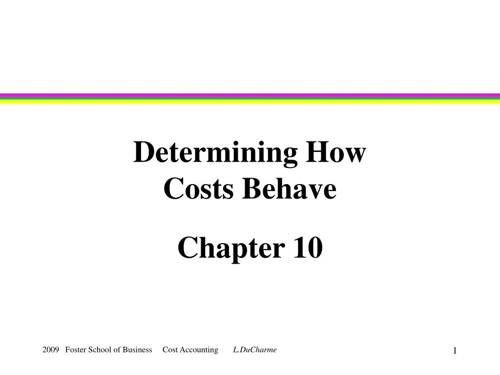 determining how costs behave l.