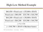 high low method example22