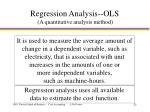 regression analysis ols a q uantitative analysis method