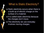 what is static electricity