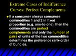 extreme cases of indifference curves perfect complements