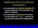 indifference curves for discrete commodities