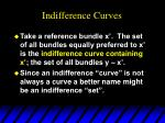 indifference curves