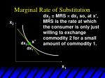 marginal rate of substitution49