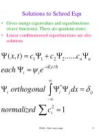 solutions to schrod eqn