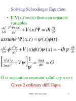 solving schrodinger equation