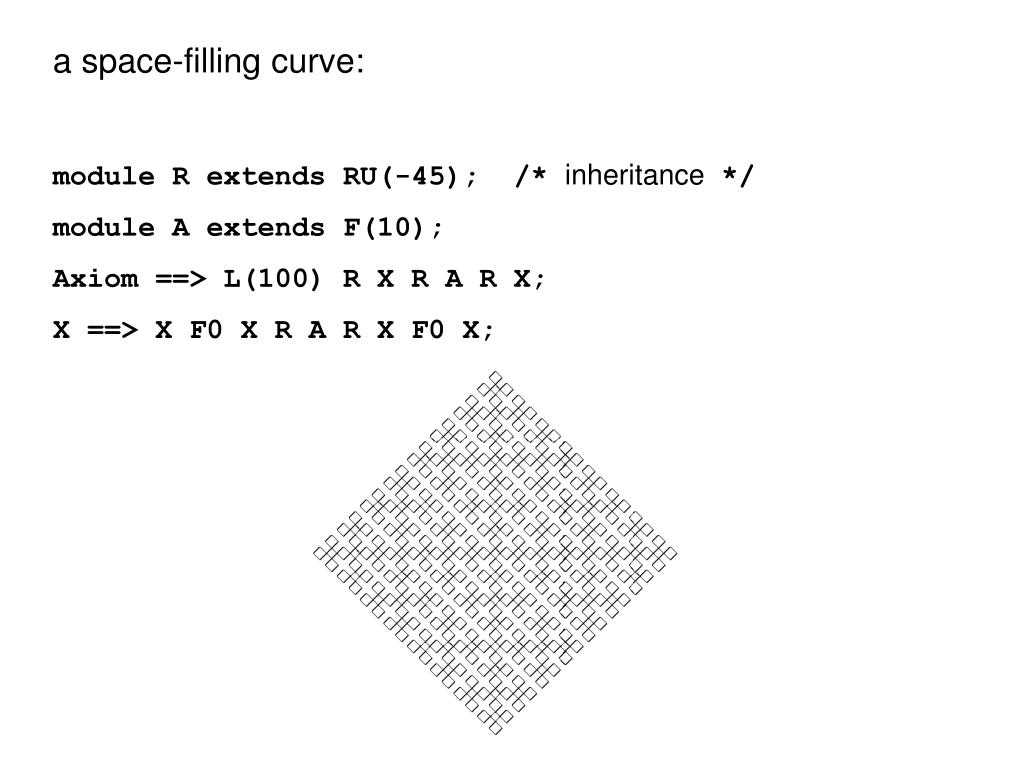 a space-filling curve: