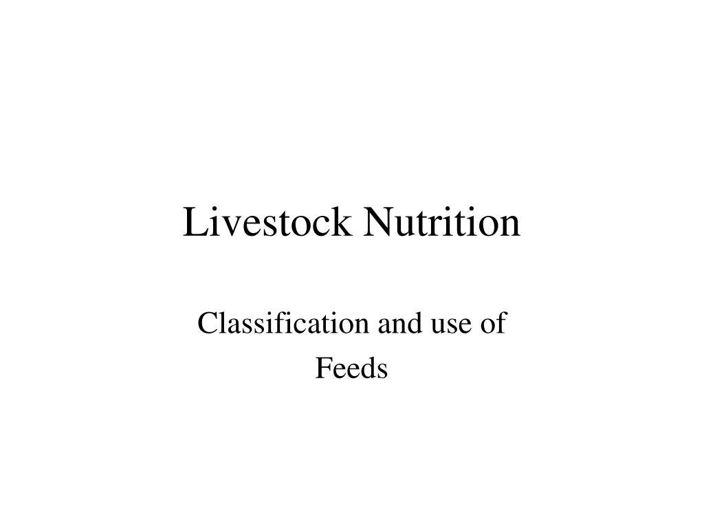 livestock nutrition l.