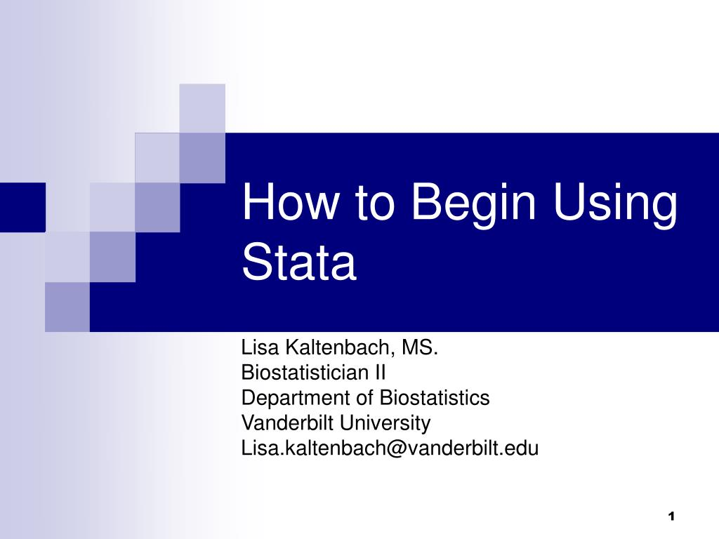 how to begin using stata l.
