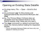 opening an existing stata datafile