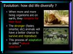evolution how did life diversify24