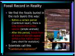 fossil record in reality41