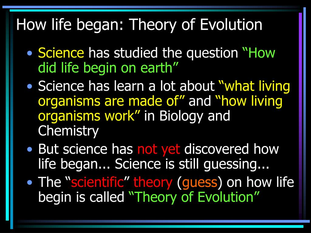 theories of how life began on