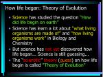 how life began theory of evolution